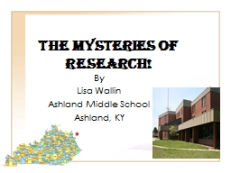 THE MYSTERIES OF RESEARCH!