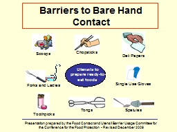 Barriers to Bare Hand Contact PowerPoint PPT Presentation