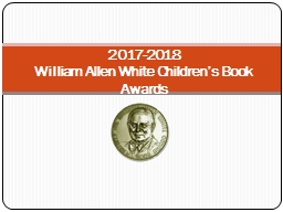 2017-2018  William Allen White Children's Book Awards