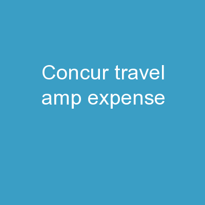 Concur Travel & Expense
