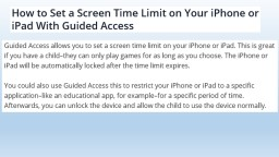 How to enable Guided Access:
