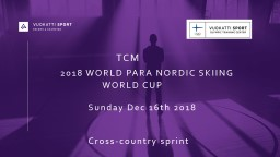 TCM 	 2018 WORLD PARA NORDIC SKIING 					WORLD CUP