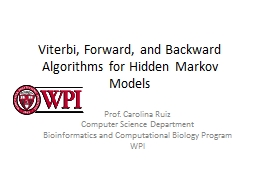Viterbi, Forward, and Backward