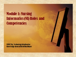NURS 736: Technology Solutions for Knowledge Generation in Healthcare