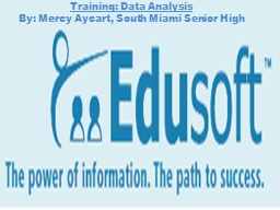 Training: Data Analysis By: Mercy