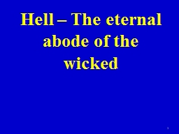 Hell – The  eternal abode