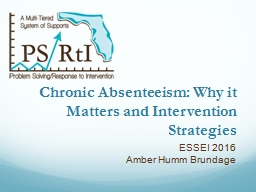 Chronic Absenteeism: Why it Matters and Intervention Strategies