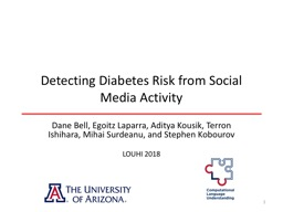 Detecting Diabetes Risk from Social Media Activity