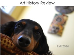 Art History  Review Fall 2016