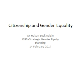 Citizenship and Gender Equality
