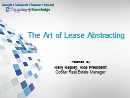 The Art of Lease Abstracting