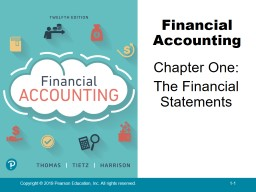 Chapter One: The Financial Statements