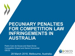 Pecuniary Penalties for Competition Law Infringements in Australia