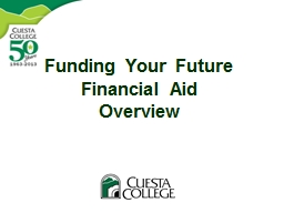 Funding Your Future Financial Aid Overview