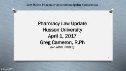 2017 Maine Pharmacy Association Spring Convention