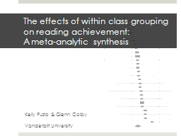 The effects of within class grouping on reading achievement: