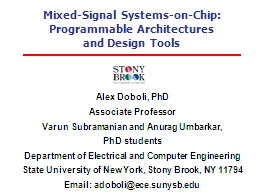 Mixed-Signal Systems-on-Chip:
