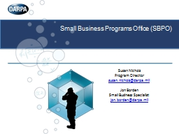 Small Business Programs Office (SBPO)