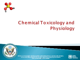 1 Chemical Toxicology and Physiology