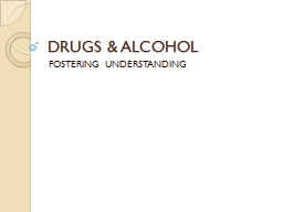 DRUGS & ALCOHOL FOSTERING UNDERSTANDING