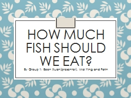 How much fish should we eat?