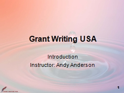 Grant Writing USA Introduction