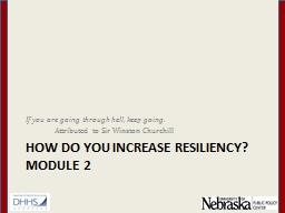 How DO YOU INCREASE Resiliency?