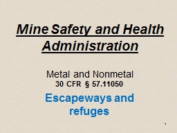 1 Mine Safety and Health