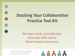Stocking Your Collaborative Practice Tool PowerPoint PPT Presentation