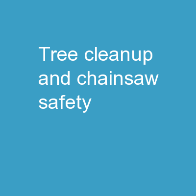 Tree Cleanup and Chainsaw Safety PowerPoint PPT Presentation