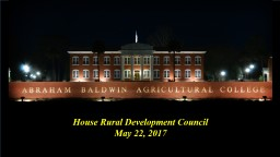 House Rural Development Council