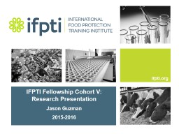 IFPTI Fellowship Cohort V: Research Presentation