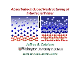 Absorbate -Induced Restructuring of Interfacial Water
