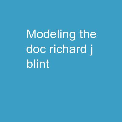Modeling the DOC Richard J. Blint