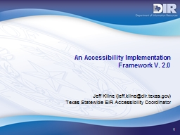 1 An Accessibility Implementation PowerPoint PPT Presentation
