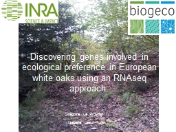 Discovering genes involved in ecological
