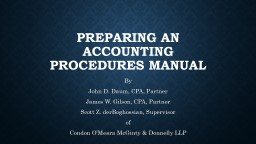 Preparing An Accounting