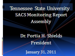 SACS Monitoring Report Assembly PowerPoint PPT Presentation