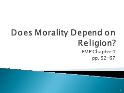 Does Morality Depend on Religion? PowerPoint PPT Presentation