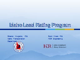 Idaho Load Rating Program