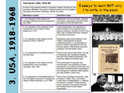 3. USA, 1918-1968 5 essays to learn