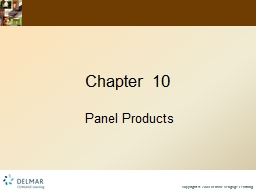 Chapter 10 Panel Products PowerPoint PPT Presentation