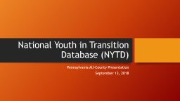 National Youth in Transition Database (NYTD)