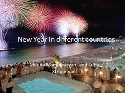 New Year in different countries