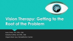 Vision Therapy: Getting to the Root of the Problem