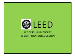 LEED LEADERSHIP IN ENERGY