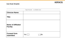 Case Study Template  Clinician Name:
