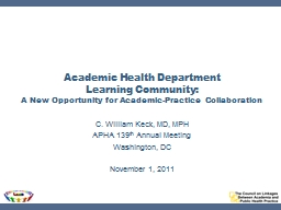 Academic Health Department