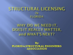 Structural Licensing IN FLORIDA