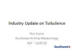Industry Update on Turbulence